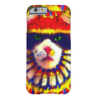 Retro Fantasy Tribal Rainbow Cat Watercolor iPhone Barely There iPhone 6 Case