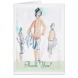 Retro Fashion Thank You Card