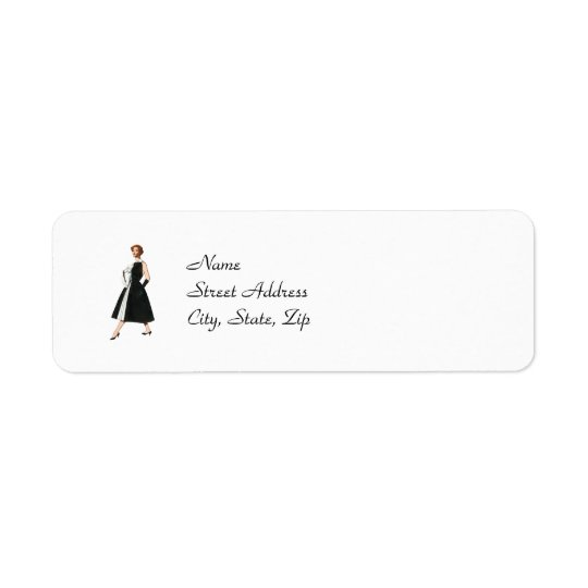 Retro Fashionista Return Address Labels