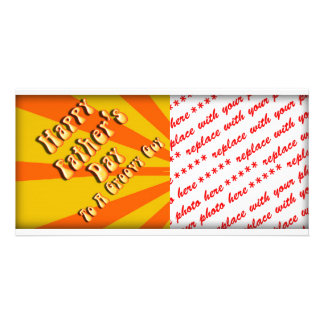 Retro Father's Day For a Groovy Guy (Orange/Gold) Photo Card