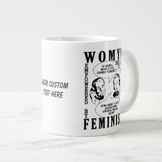 Retro Feminist Humor mugs Jumbo Mug