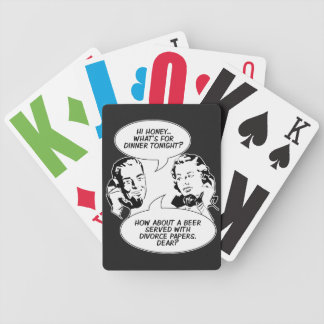 Retro Feminist Humor playing cards