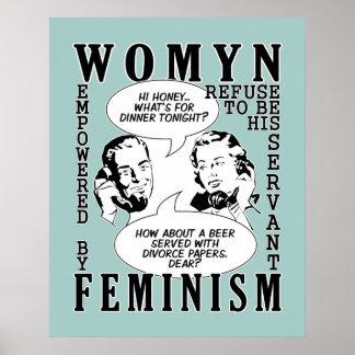 Retro Feminist Humor poster