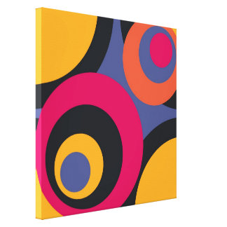 Retro Fifties Abstract Art Wrapped Canvas