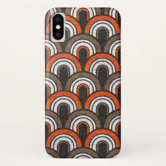 Retro Fifties Painted Canvas iPhone X Case