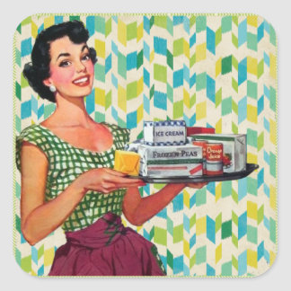 Retro  Fifties Woman Antique graphics Stickers