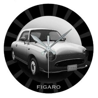 Retro Figaro Classic Car Round Wall Clock