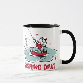 Retro Fishing Diva Mug