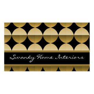 Retro Flair Business Card Golden Beige