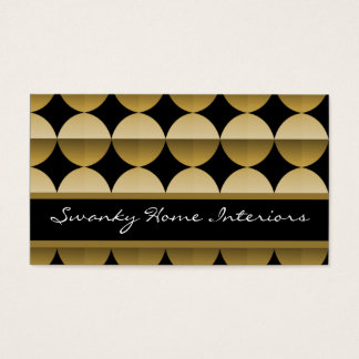 Retro Flair Business Card, Golden Beige Business Card