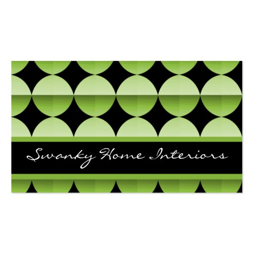 Retro Flair Business Card, Lime Green