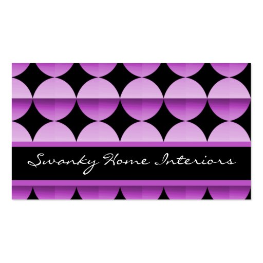Retro Flair Business Card, Lovely Lavender