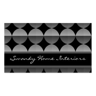 Retro Flair Business Card, Metallic Gray Pack Of Standard Business Cards