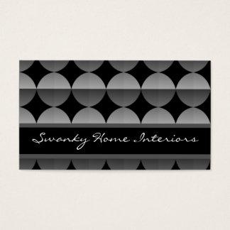 Retro Flair Business Card, Metallic Gray
