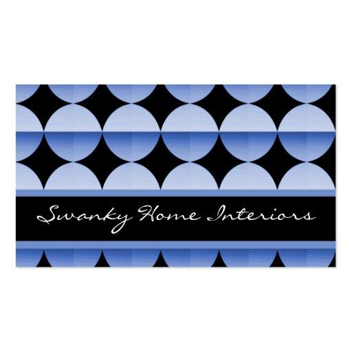 Retro Flair Business Card, Soft Blue