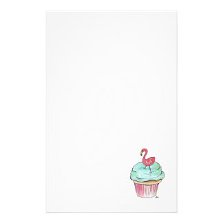 Retro Flamingo Cupcake Stationery
