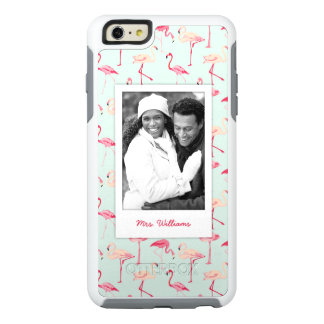Retro Flamingo Pattern | Add Your Photo & Name OtterBox iPhone 6/6s Plus Case