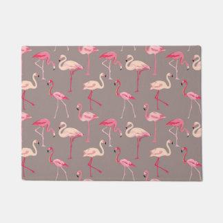 Retro Flamingos Doormat
