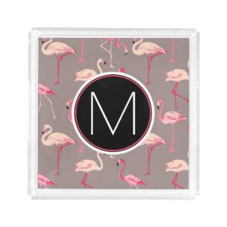 Retro Flamingos | Monogram