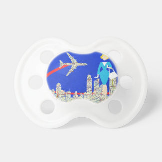 Retro Flight Attendant Baby Pacifier