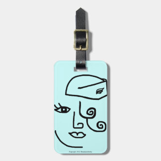 Retro Flight Attendant Personalized Luggage Tag #4