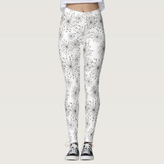 Retro floral background leggings