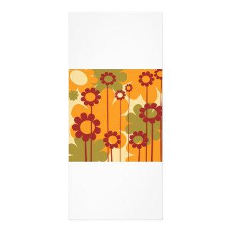 Retro floral background rack cards