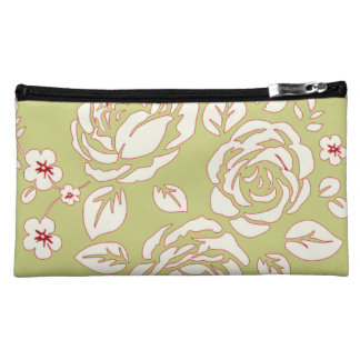 Retro_Floral(c) Fabric_Sueded_Bag Cosmetic Bags