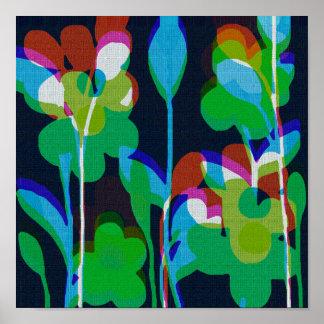 Retro Floral Canvas Print