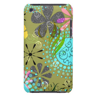 Retro Floral Case-Mate Barely There™ iPod Touch Ca