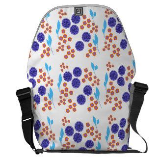 Retro floral design messenger bags