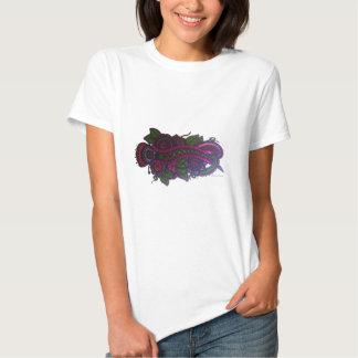 Retro floral design t shirt