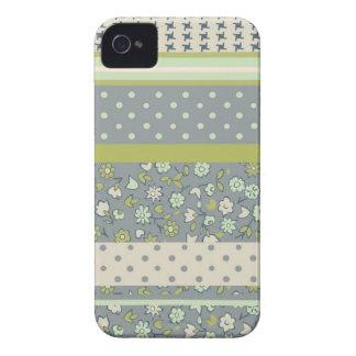 retro floral fabric blackberry case