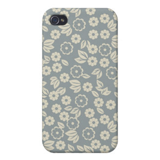 retro floral fabric iphone 4 case