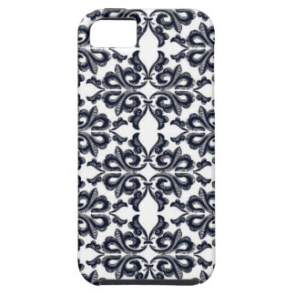 Retro floral flower pattern blue and white case