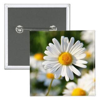 retro, floral, flowers, decorative, ornamental, ar 15 cm square badge