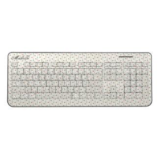 Retro Floral Nostalgic Sensual Romantic Ladylike Wireless Keyboard