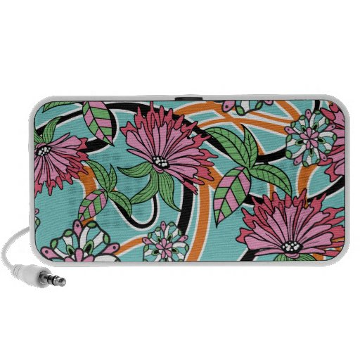 Retro Floral Notebook Speakers