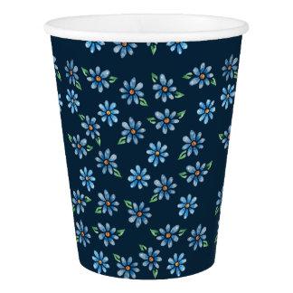 retro floral paper cup