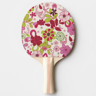Retro floral pattern 7 ping pong paddle