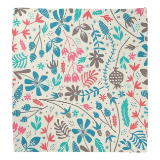 Retro Floral Pattern Bandana
