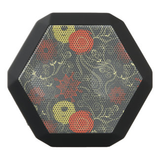 Retro floral pattern black boombot rex bluetooth speaker