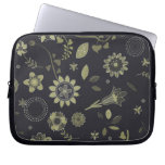 Retro Floral Pattern laptop sleeve
