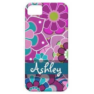 Retro Floral Pattern with Name