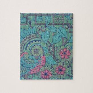 Retro Floral Peacock Puzzle
