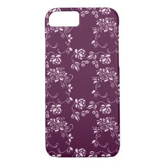 retro floral purple pattern iPhone 8/7 case