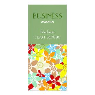 Retro Floral Rack Card