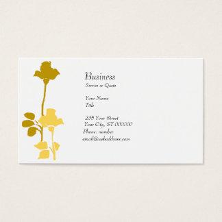 Retro Floral Roses Profile Card Modern Golden