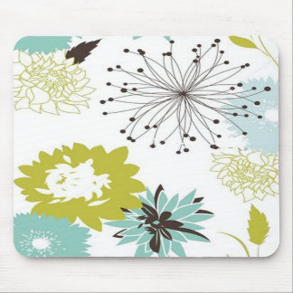 Retro Floral Seamless Mousepads