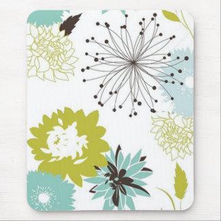 Retro Floral Seamless Mousepads